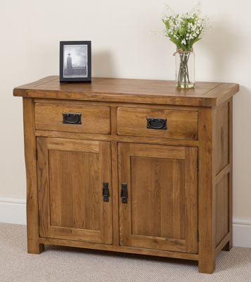 Cotswold Rustic Solid Oak Small Sideboard