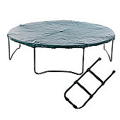 Skyhigh 14ft Trampoline Tie on Cover and Ladder