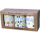 Emma Bridgewater Polka Dot Set of 3 Storage Caddies (BROWN BOX)