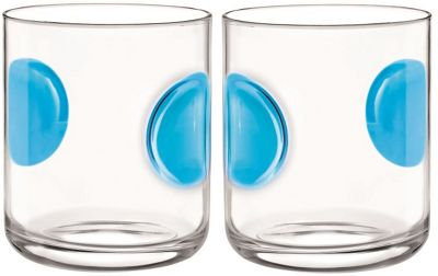 Bormioli Rocco Giove Water Tumbler Glasses - Set Of 2 - Sky Blue - 310ml
