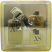 Paco Rabanne XS Excess Pour Homme Gift Set 100ml EDT + 50ml Shower Gel + 50ml Aftershave Gel For Men