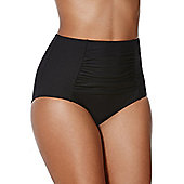 F&F Shaping Swimwear High Waisted Bikini Briefs - Black