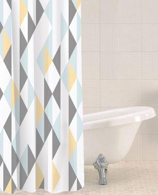 Sabichi Geomix Polyester Shower Curtain