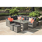 Mixed Grey Cayman 5 Piece Relaxed Dining Set