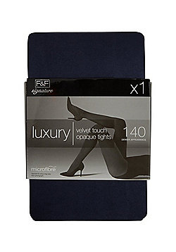 F&F Signature Luxury 140 Denier Opaque Tights - Navy