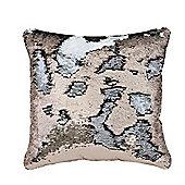 Two Tone Sequin Siren Cushion - Copper & Silver