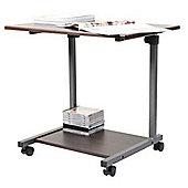 Miro - Multi-functional Side Table / Office Desk - Dark Oak / White