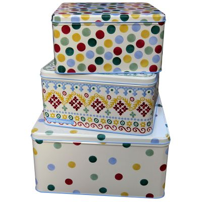 Emma Bridgewater Polka Dot Set of 3 Square Cake Tins