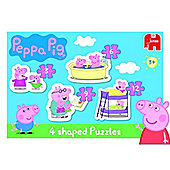 Peppa Pig 4in1 Shaped Puzzle