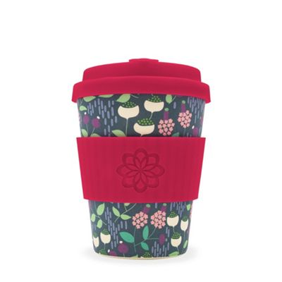 Ecoffee Cup Vondel with Red Silicone 12oz
