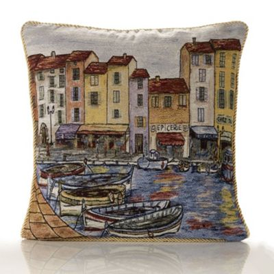Alan Symonds Tapestry Harbour Cushion Cover - 45x45cm