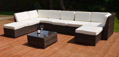 buy valencia modular garden rattan corner sofa set with. Black Bedroom Furniture Sets. Home Design Ideas