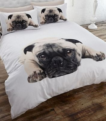 Pug Double Duvet