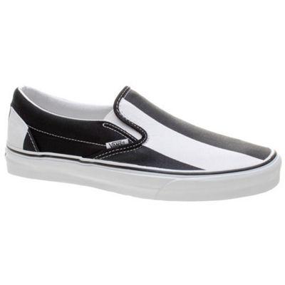 Vans Classic Slip On (Big Stripes) Black/True White Shoe EYEABZ