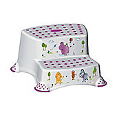 Happy Friends White Hippo - 21cm Tall Double Step Stool