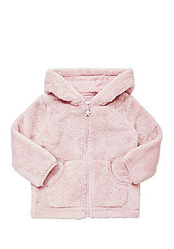 F&F Fleece Zip-Through Hoodie - Pink