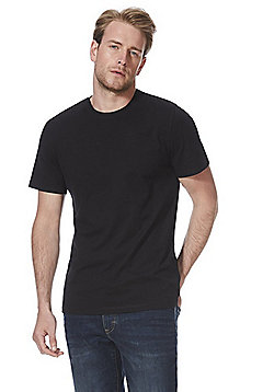 F&F 3 Pack of Crew Neck Short Sleeve T-Shirts - Black