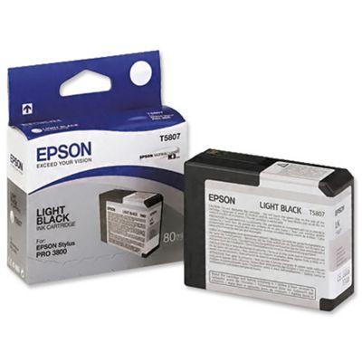 Epson T5807 Ink Cartridge - 80ml (Light Black) for Epson Stylus Pro 3800