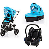 ABC Design Cobra 3 in 1 Pram Maxi Cosi Travel System - Rio (Silver Frame)