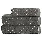 Kinglsey Home Spot Bath Towel Steel