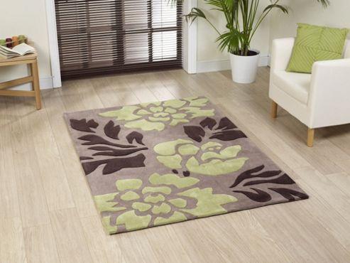 Oriental Carpets & Rugs Noble House 1033L Brown/Green Rug - 90cm x 150cm