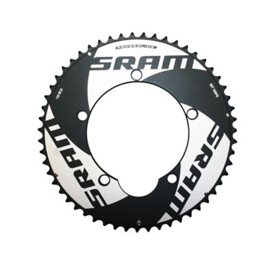 SRAM Chainring TT 53t 5 Bolt 130mm BCD Alum (Non-Hidden Bolt) (53-39) 4mm Black