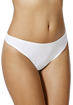 F&F Bonded Thong - White