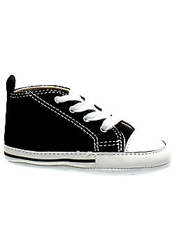 Converse First Star Black/White Crib Baby Shoe 8J231 - Black