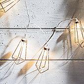 Battery Copper Geometric Pendant LED Fairy Lights