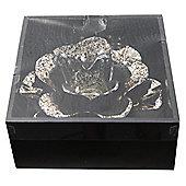 Black and Gold Flower Tealight Holder