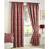 Curtina Crompton Red Lined Curtains - 90x90 Inches (229x229cm)