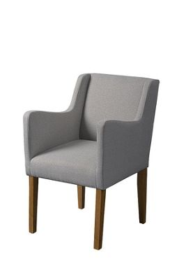 Emilia Carver Chair in Herringbone Grey…