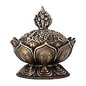 Metal Lotus Incense Cone Holder