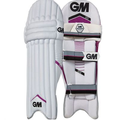 GUNN & MOORE 505 Mens Kids Cricket Batting Pads, Left Handed Youth