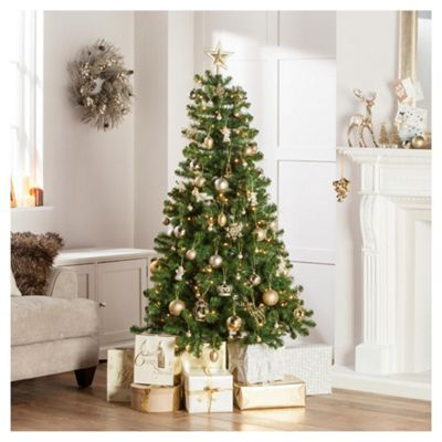 Western Pine Pre-Lit 6ft Christmas Tree, Tesco
