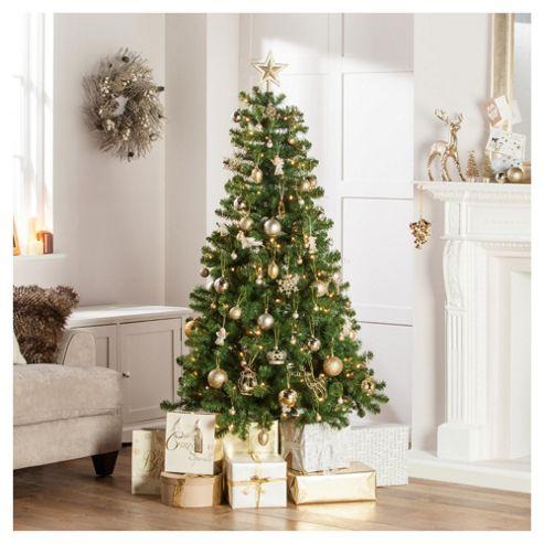 Western Pine Pre-Lit 6ft Christmas Tree, Tesco