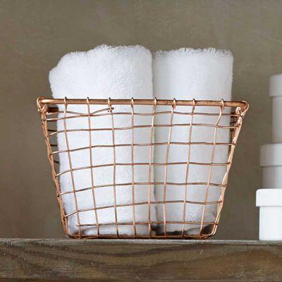 Design Ideas Cabo Storage Nest Small Handwoven Wire in Copper Finish