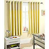Enhanced Living Sweetheart Yellow Eyelet Curtains - 66x72 Inches (168x183cm)