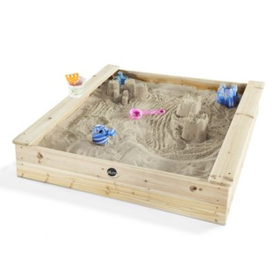 Plum Outdoor Play Square Wooden Sand Pit