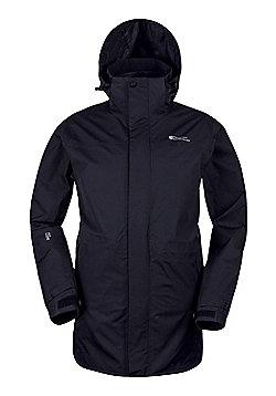 Mountain Warehouse Glacier Extreme Mens Long Waterproof Jacket - Black