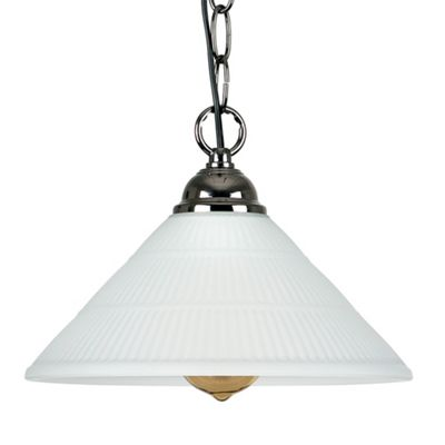 Suspended Chain Ceiling Light with Oyster Shade