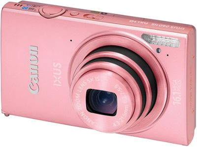 Canon Ixus 240 Digital Camera, Pink, 16MP, 5x Optical Zoom, 3.2 inch LCD Screen