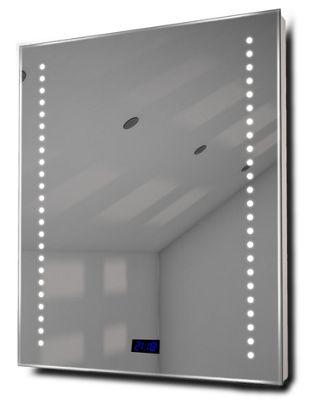 Bathroom Clock Mirror with UnderLighting, Bluetooth, Demist & Sensor k191Waud