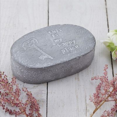 Happy Place Sentiment Stone
