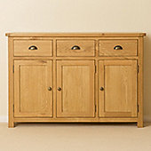 Roseland Oak Large 3 Door Sideboard