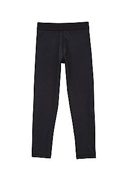 F&F Easy Care Quick Dry Base Layer Leggings - Black
