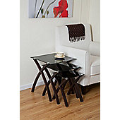 Nest of tables home furniture tesco direct tesco miami set of 3 nesting tables black glass watchthetrailerfo