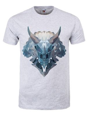 Unorthodox Men's Triceratops T-shirt Grey