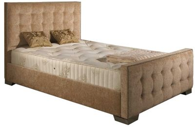ValuFurniture Delaware Chenille Fabric Divan Bed Frame - Mink - Small Single - 2ft 6