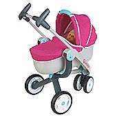 Smoby Quinny 3 Wheel 2 in 1 Pushchair + Pram